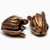 9x11mm Tulip Copper Plated Brass
