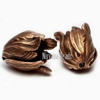 9x11mm Tulip Copper Plated Brass