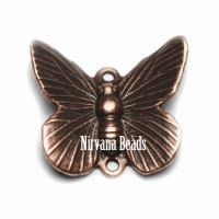 12x16mm Butterfly Charm Copper Plated Brass