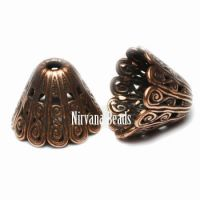 10x14mm Filigree Cap Copper Plated Brass