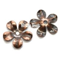 8mm Flower Cap Copper Plated Brass