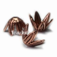 5x7mm Flower Cap Copper Plated Brass
