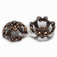 5x10mm Filigree Cap Copper Plated Brass