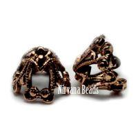 6x8mm Filigree Cap Copper Plated Brass