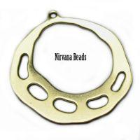 28x30mm Hoop Earring Matte Gold Plated