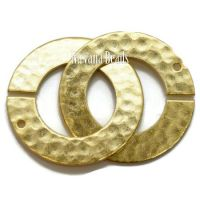 22mm Hammered Ring Clasp Gold Plated Brass
