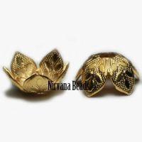 8mm Decorative Cap Matte Gold Plated Brass