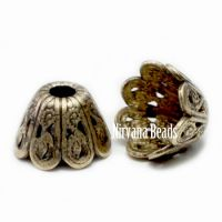 6x9mm Filigree Cap Oxidized Brass