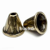 12x14mm Decorative Cone Antique Pewter