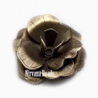 10x22mm Flower Oxidized Brass
