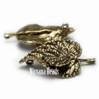 15x22mm Leaf Toggle Oxidized Brass