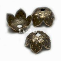 8mm Decorative Cap Oxidized Brass
