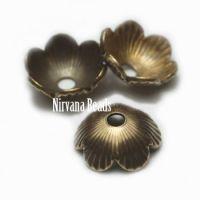 6mm Decorative Cap Oxidized Brass