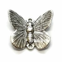 12x16mm Butterfly Charm Butterfly Silver Plated Brass