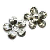 8mm Flower Cap Silver Plated