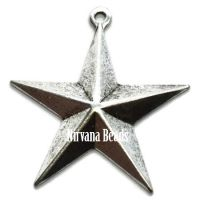 20x22mm Charm Star Silver Plated