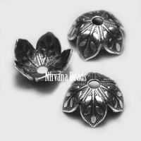 8mm Decorative Cap Silver Plated Brass