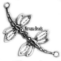 38mm Dragonfly Clasp Silver Plated Brass