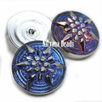 18mm Star Cabochon Volcano with Silver