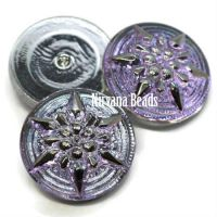 18mm Star Cabochon Vitrail Light with Silver Star