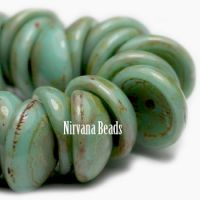 8mm Piggy Beads GN. Blue-Turquoise Picasso