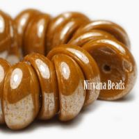 4x8mm Piggy Bead Yellow Gold with Luster Finish