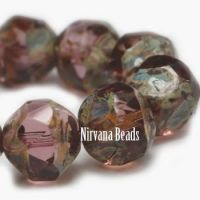 8mm Baroque Beads Mulberry with Picasso Finish