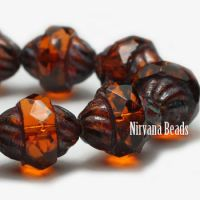 10x11mm Turbine Alloy Orange with Picasso Finish