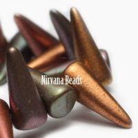 5x13mm Spikes Metallic Mix