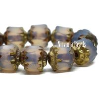 6mm Cathedral Transparent Glass with Picasso and Gold Finishes