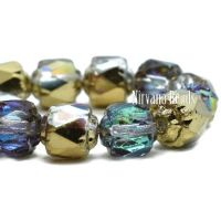6mm Cathedral Transparent Glass with a Golden Luster