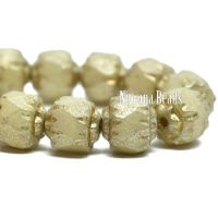 6mm Cathedral Yellow Ivory with a Mercury Finish and a Gold Wash