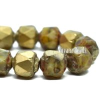 6mm Cathedral Pale Yellow with Picasso and Gold Finishes