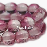 3mm Round Druk Fuschia