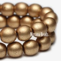 4mm Round Druk Gold
