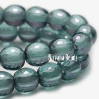 4mm Round Druk Slate Blue