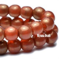 4mm Round Druk Alloy Orange