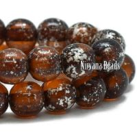 4mm Round Druk Root Beer with a Mercury Finish