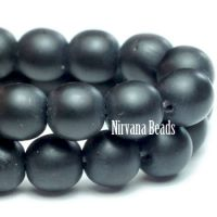 4mm Round Druk Black