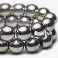 6mm Round Druk Silver