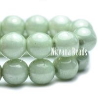 6mm Round Druk Laurel Green