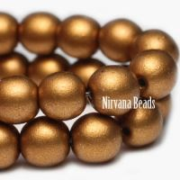 6mm Round Druk Brass