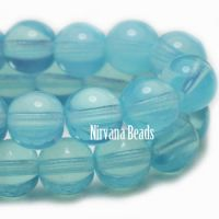 6mm Round Druk Powder Blue