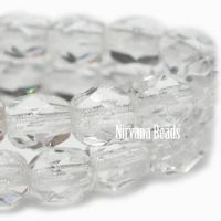 Faceted Round Firepolished Beads 02mm T. Crystal