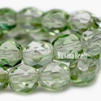 3mm Faceted Round Firepolished Bead Celadon