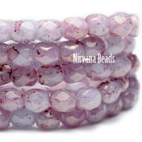 3mm Faceted Round Firepolished Bead Hyacinth