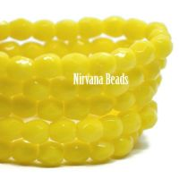 3mm Faceted Round Firepolished Bead Bright Yellow