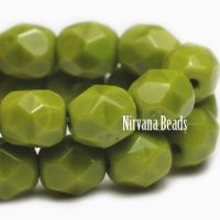 3mm Faceted Round Firepolished Bead Avocado