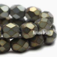 3mm Faceted Round Firepolished Bead Gunmetal Mix