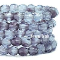 3mm Faceted Round Firepolished Bead Grape
